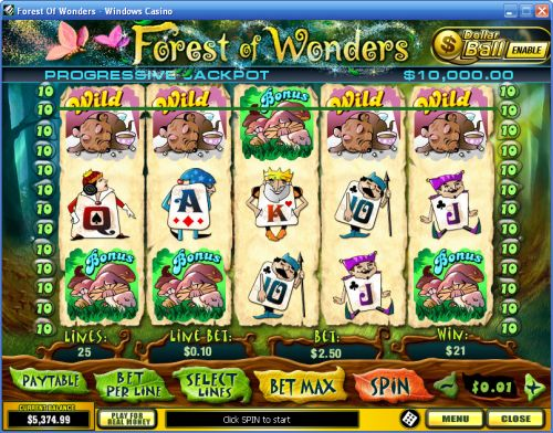 forest of wonders video slot