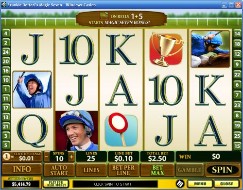 frankie dettori magic seven video slot