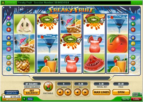 freaky fruit video slot