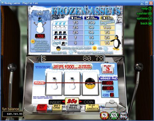 frozen assets slot