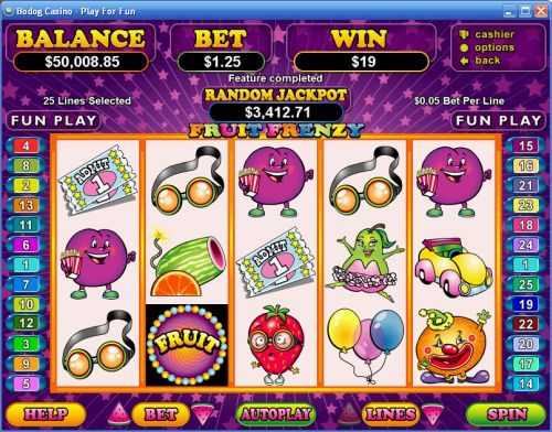 fruit frenzy video slot