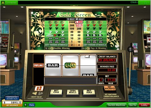 gold and green video slot