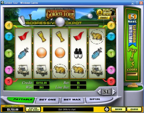 golden tour video slot
