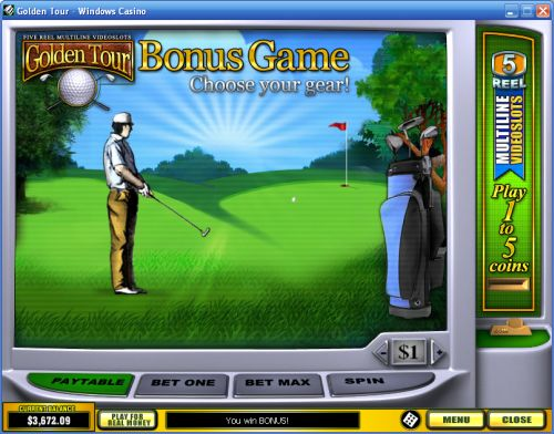 golden tee tour flash game