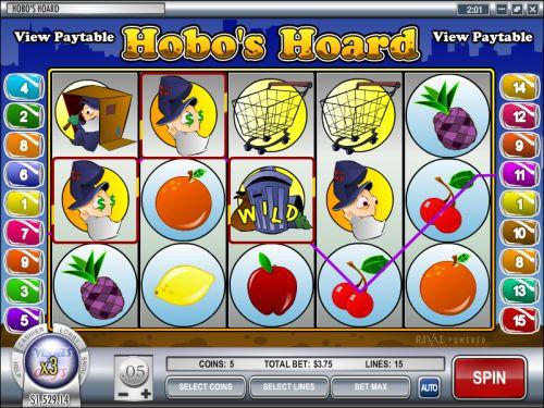 hobos hoard rival video slot