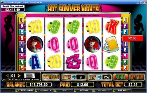 hot summer nights video slot