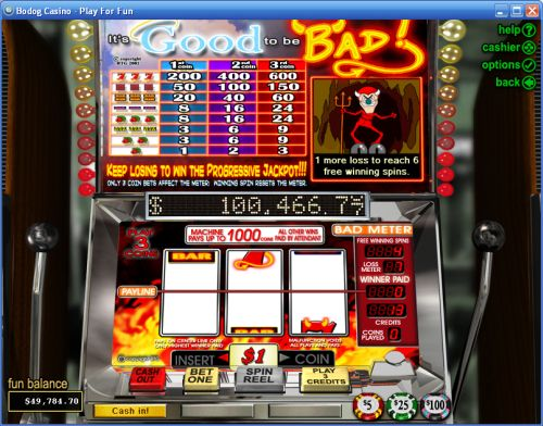 its good to be bad classic slot
