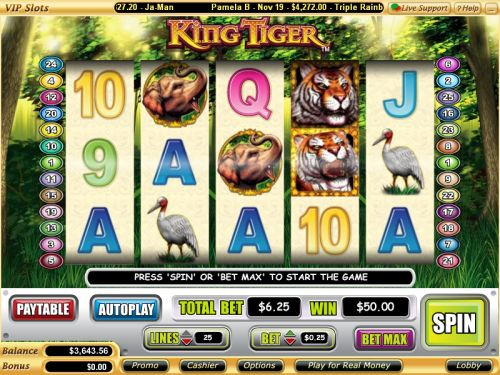 king tiger video slot