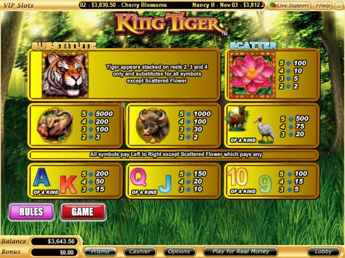 king tiger flash game