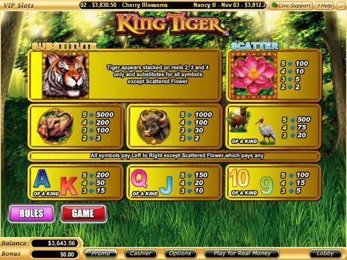 king tiger flash game