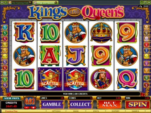 kings and queens video slot