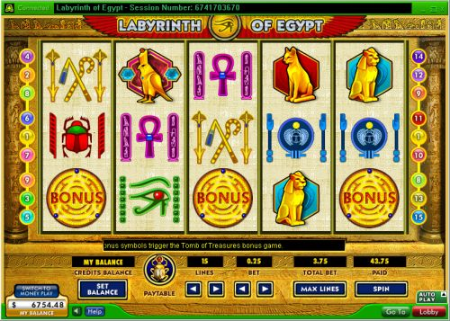 labyringth of egypt video slot