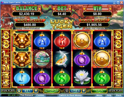 lucky tiger video slot
