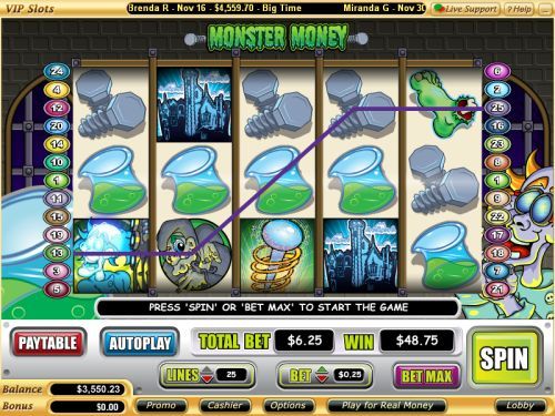 monster money video slot