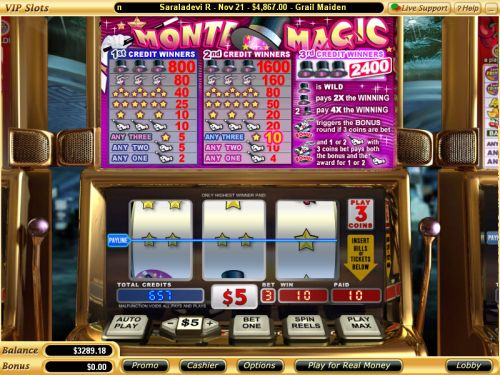 monte magic video slot