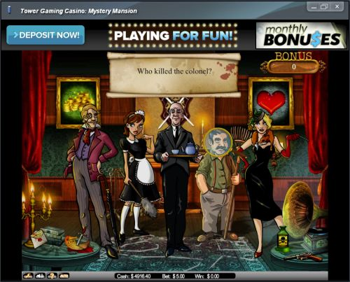 mansion mystery flash game