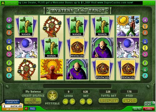 mystery of the tarot video slot