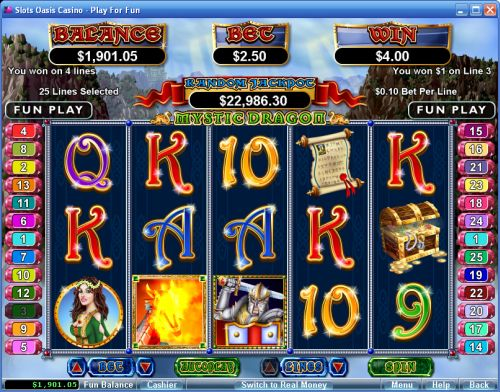 mystic dragon video slot