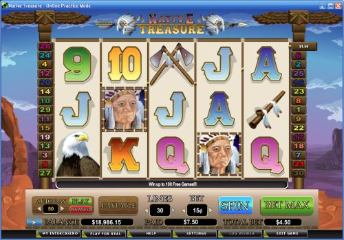 native treasure video slot