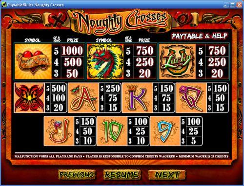 noughty crosses casino flash game
