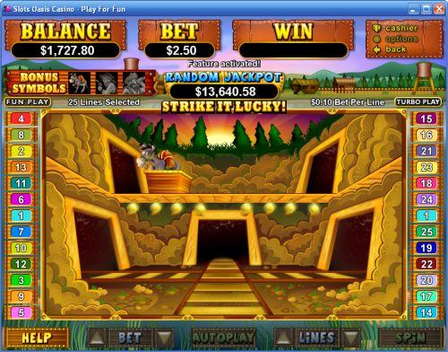 paydirt bonus game