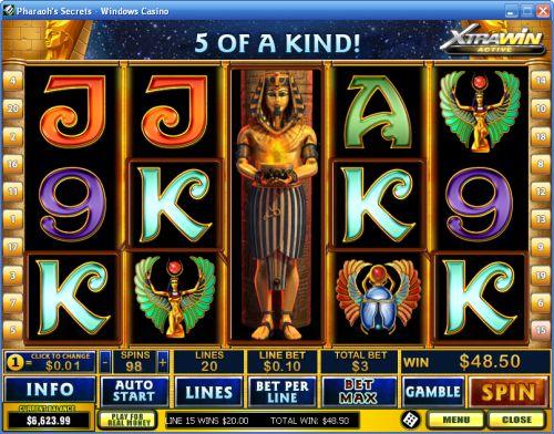 pharaohs secrets video slot