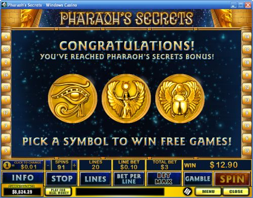 pharoah casino game