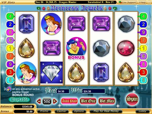 princess jewels video slot