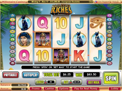 ramesses riches video slot