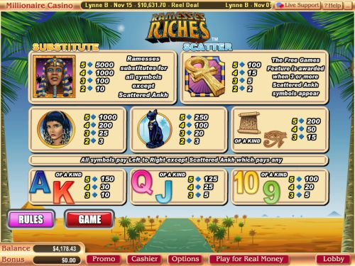 ramesses riches flash game