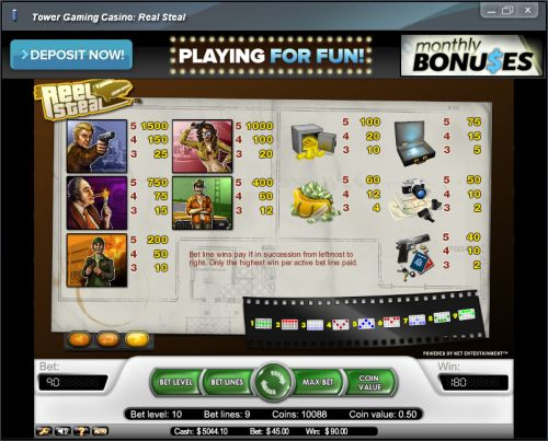 reel steal flash bonus game