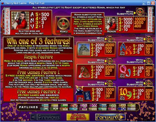 ronin casino flash game