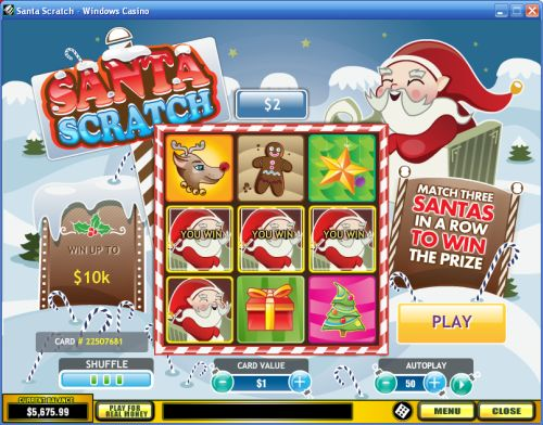 Play Santa Scratch Cards at Casino.com