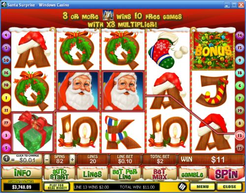 santa surprise video slot