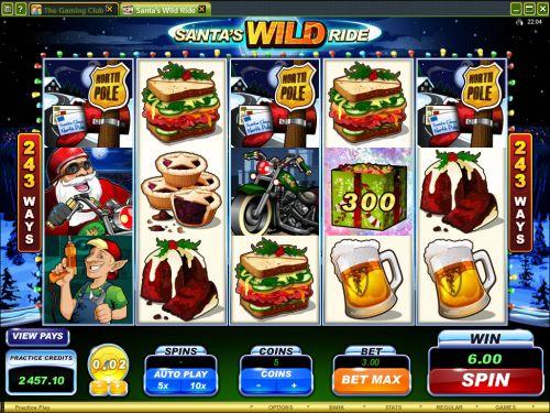 santas wild ride video slot