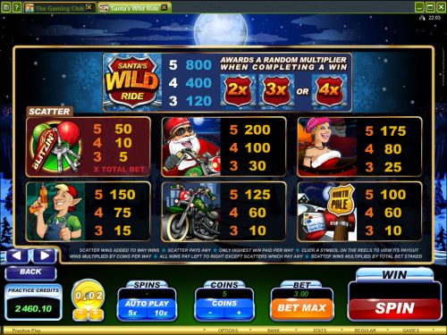 play santas wild ride flash game