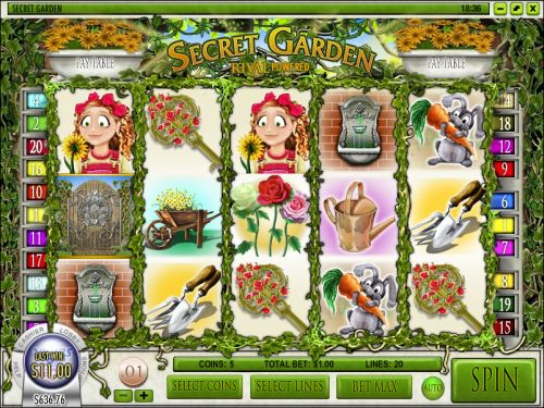 secret garden video slot