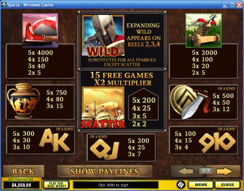 play sparta casino game