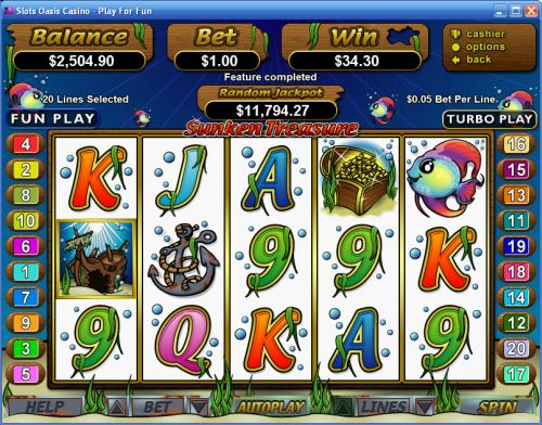 sunken treasure video slot