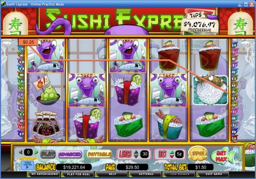 sushi express video slot