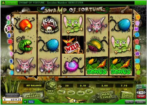 swamp of fortune video slot, swamp of fortune casino flash game,