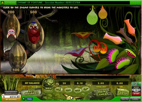 swamp of fortune flash game