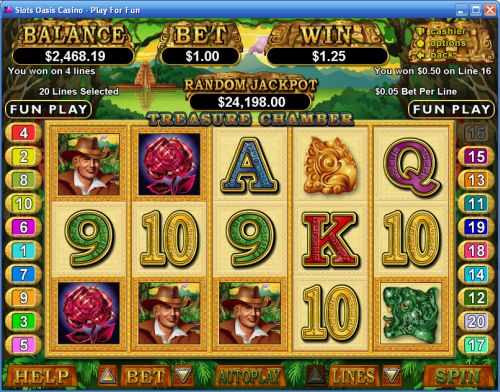 treasure chamber video slot