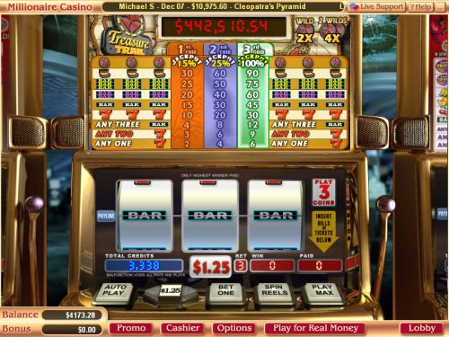treasure trail progressive jackpot slot