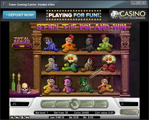 voodoo vibes casino bonus game