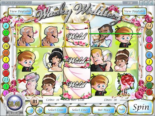 wacky wedding video slot