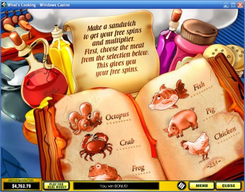 whats cooking casino flash game