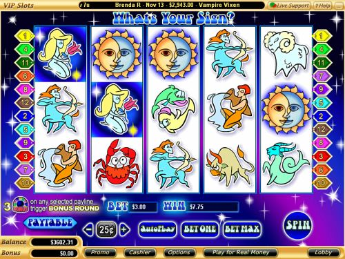 whats your sign video slot