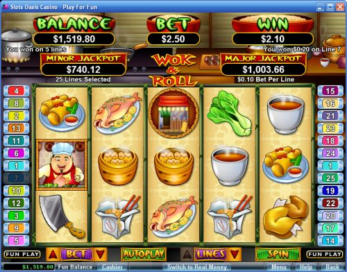wok and roll video slot