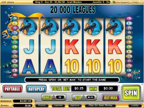 20000 leagues video slot